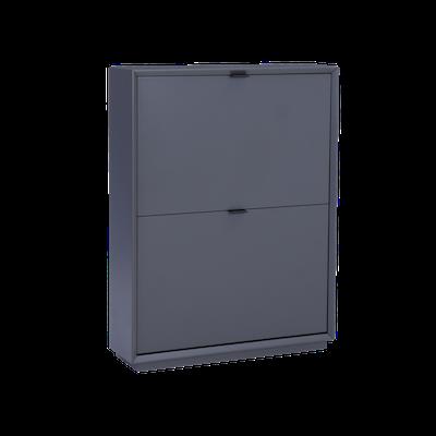 Quen 2 Door Shoe Cabinet - Grey - Image 1