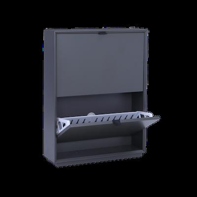 Quen 2 Door Shoe Cabinet - Grey - Image 2