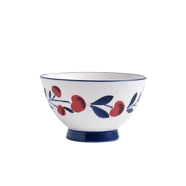 Table Matters Holiday Berry Hand Painted  Salad Bowl - 0