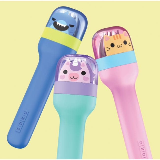 Zoku Kids Pocket Utensil Set - Blue - 6