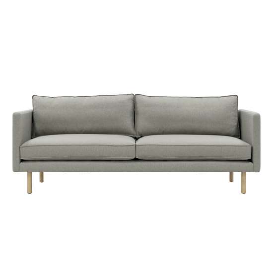 Helga - Rexton 3 Seater Sofa - Timberwolf (Fabric), Down Feathers