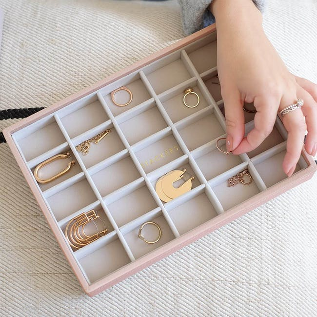 Stackers Classic 25 Compartment Trinket Layer - Blush - 1