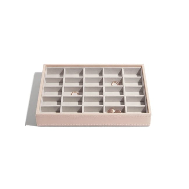 Stackers Classic 25 Compartment Trinket Layer - Blush - 0