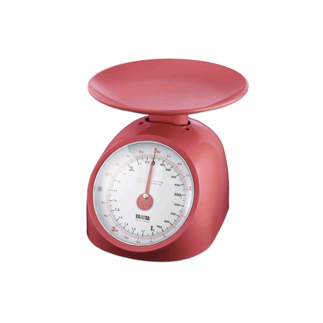 Tanita Mechanical Kitchen Scale 1kg - Red - 0