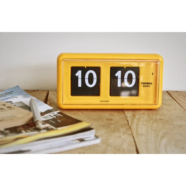 TWEMCO Table Clock - Yellow - 2