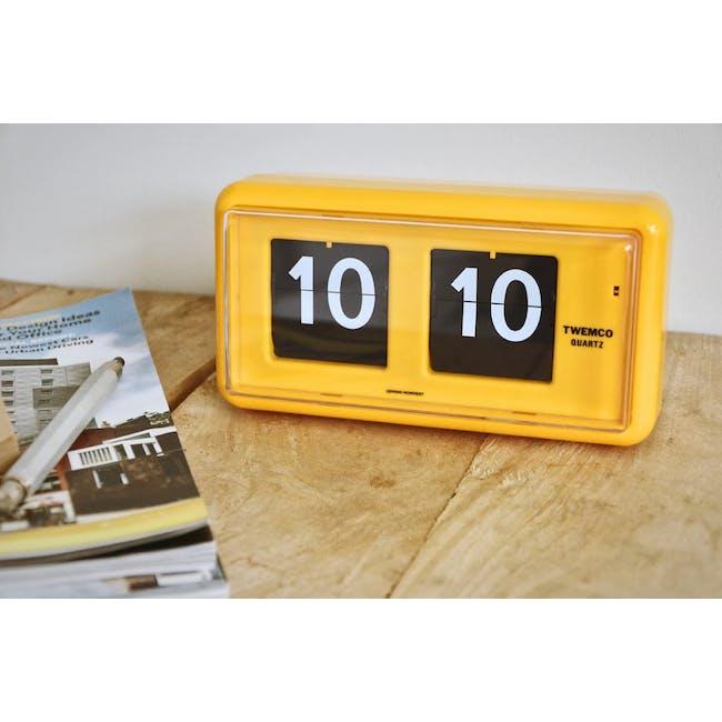 TWEMCO Table Clock - Yellow - 1