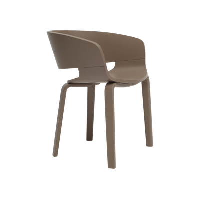 Huela Dining Chair - Dark Brown Lacquered - Image 1