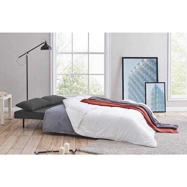 Noel 2 Seater Sofa Bed - Ebony - 1