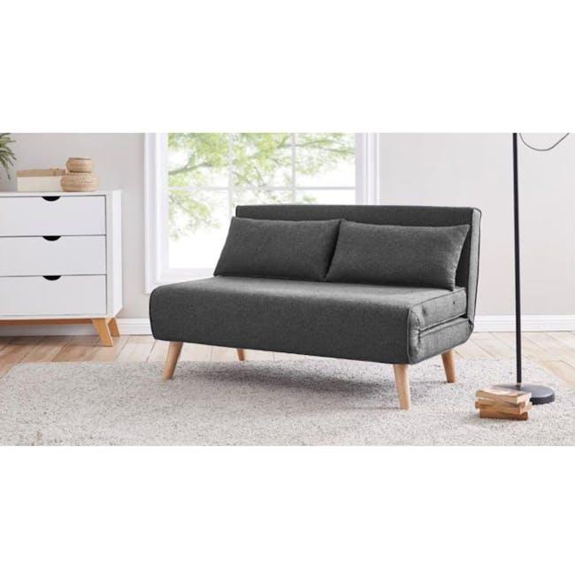 Noel 2 Seater Sofa Bed - Ebony - 3