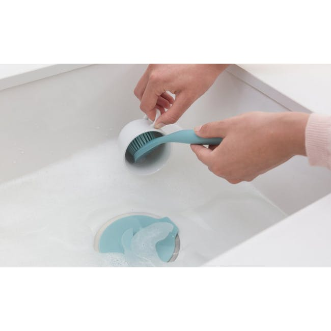 Dish Brush with Silicon Cup holder - Dark Grey - 2