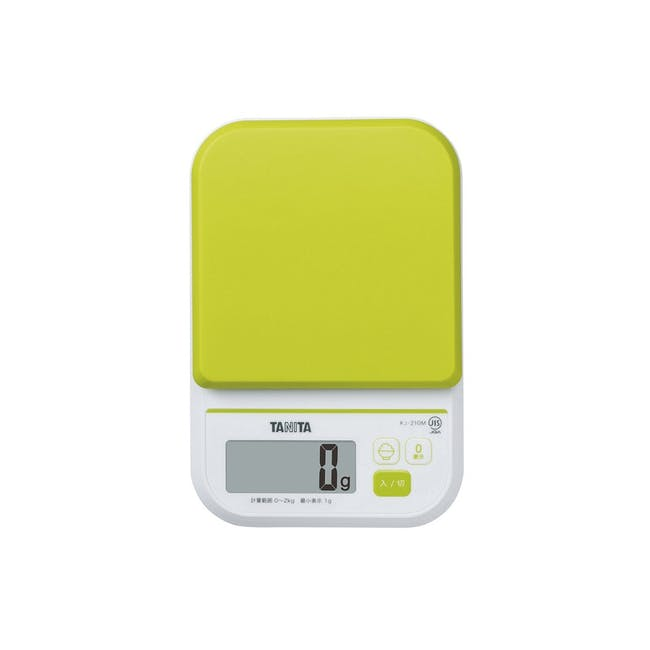 Tanita Digital Kitchen Scale with Rice Calorie Count - Green - 0