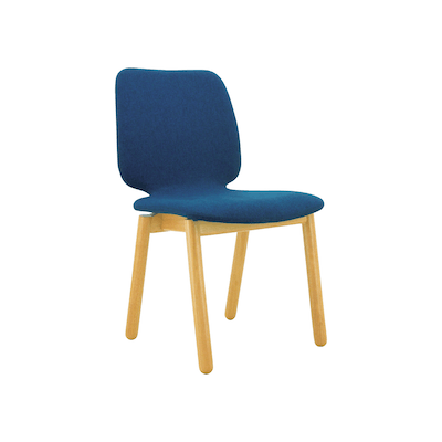 Missie Dining Chair - Oak, Midnight Blue