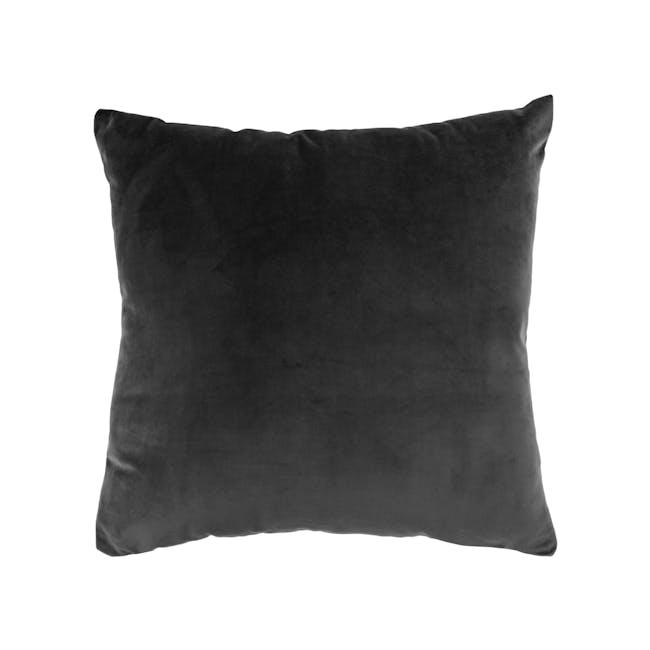 Alyssa Velvet Cushion - Grey - 0