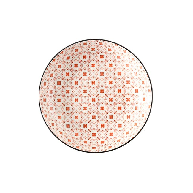 Table Matters Crisscross Red Coupe Plate - 0