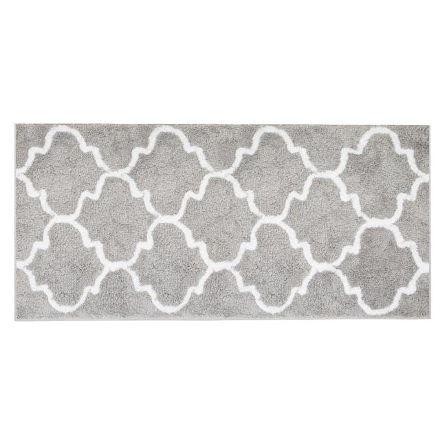 Lattice Long Floor Mat - Grey - 0