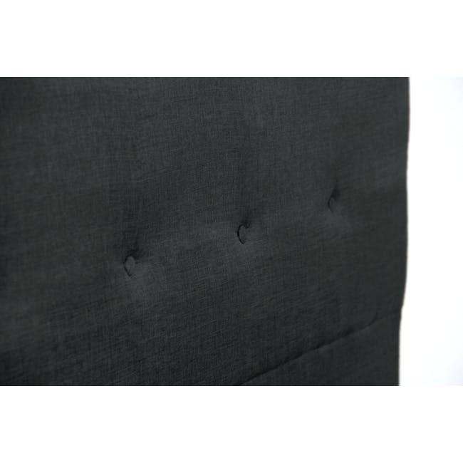 ESSENTIALS Queen Headboard Box Bed - Smoke (Fabric) - 5