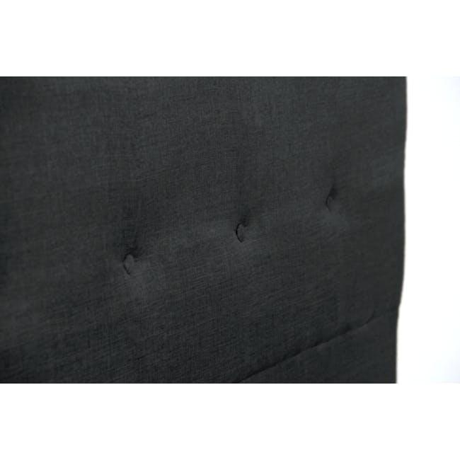 ESSENTIALS Single Headboard Box Bed - Smoke (Fabric) - 5