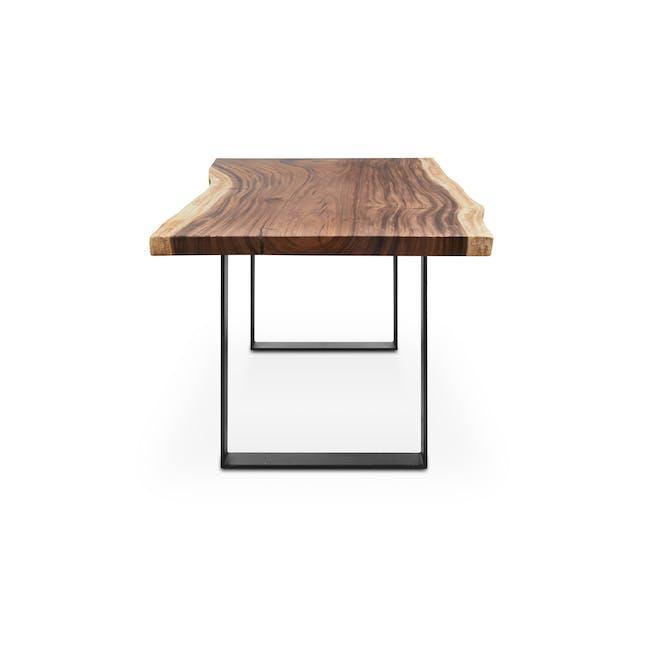 Waylon Dining Table 1.8m - Matt Black, Suar Wood (Live Edge) - 1