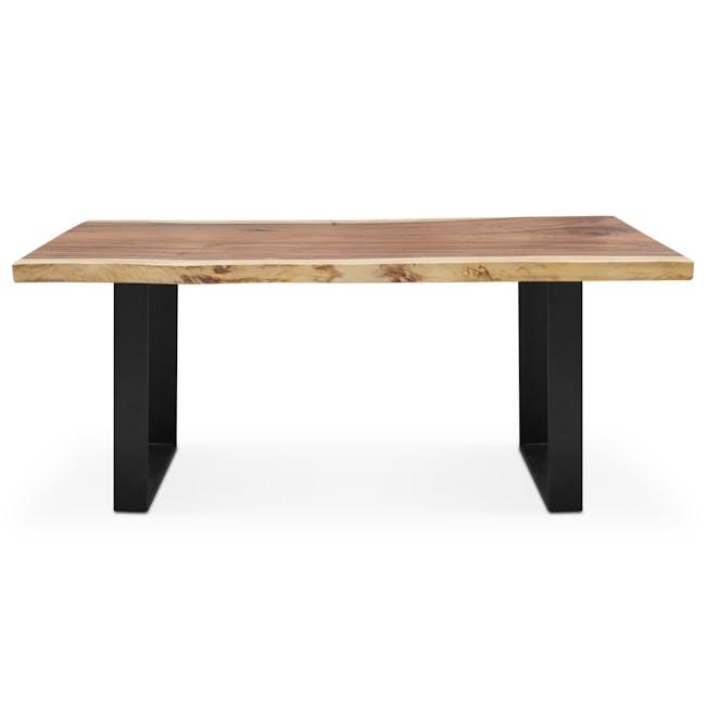 Waylon Dining Table 1.8m - Matt Black, Suar Wood (Live Edge) - 2