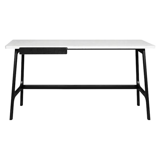 Morey Study Table - Black, White, Black Ash - 4