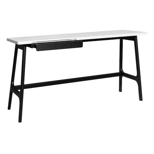 Morey Study Table - Black, White, Black Ash - 0