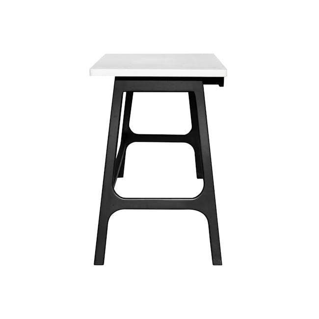 Morey Study Table - Black, White, Black Ash - 5