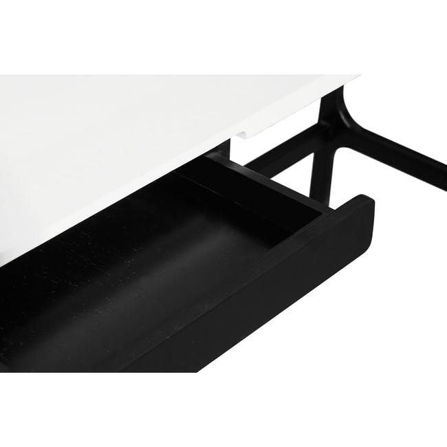 Morey Study Table - Black, White, Black Ash - 7