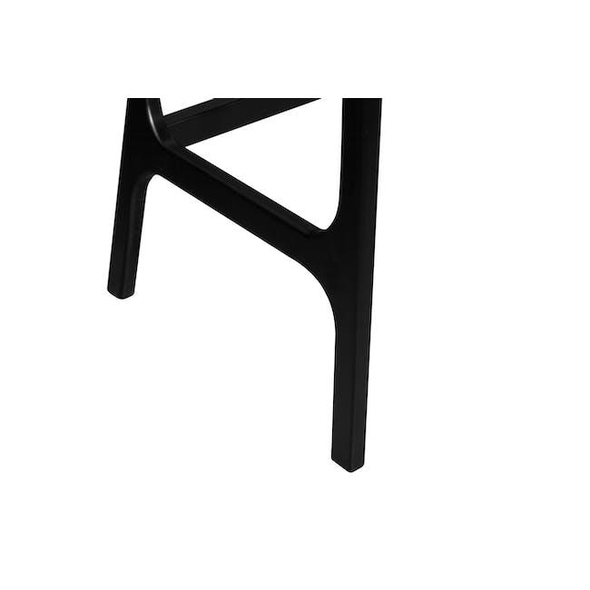 Morey Study Table - Black, White, Black Ash - 6