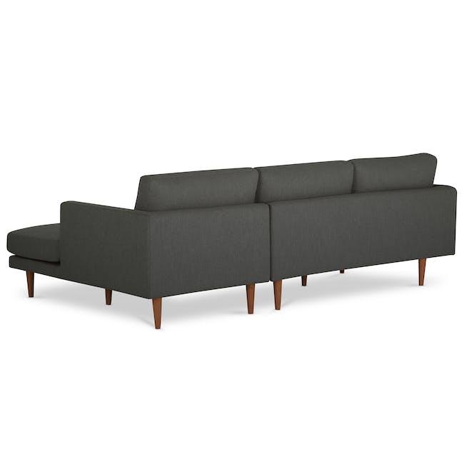 Declan L-Shaped Sofa - Walnut, Storm Grey - 3