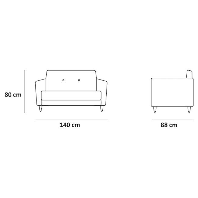 Evan 2 Seater Sofa with Evan Armchair - Slate - 3