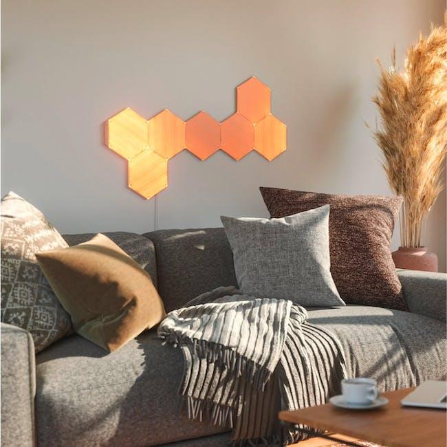 Nanoleaf Elements Wood Look Smarter Kit (7 Panels) - 3