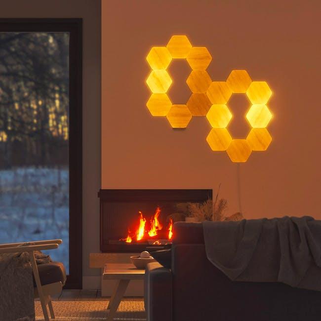 Nanoleaf Elements Wood Look Smarter Kit (7 Panels) - 4