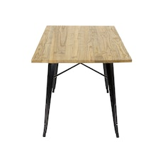 Tolix Industrial Dining Table - Oak