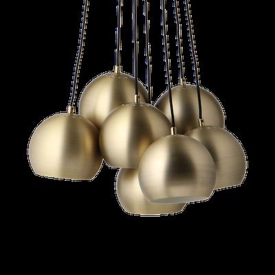 Slug Pendant Lamp (Set of 7) - Brass - Image 2