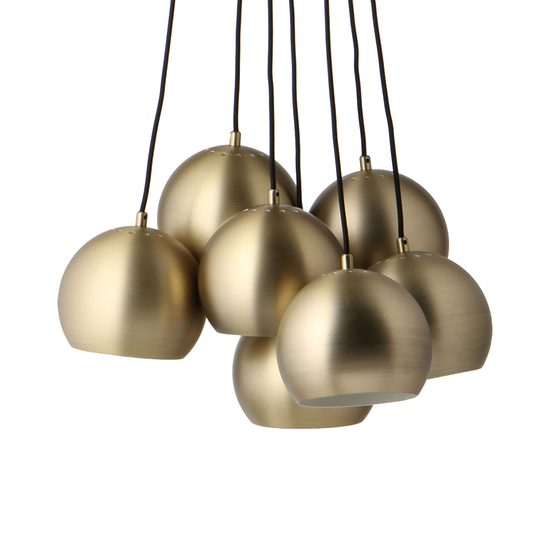 69cc8497066 Laholm - Slug Pendant Lamp (Set of 7) - Brass