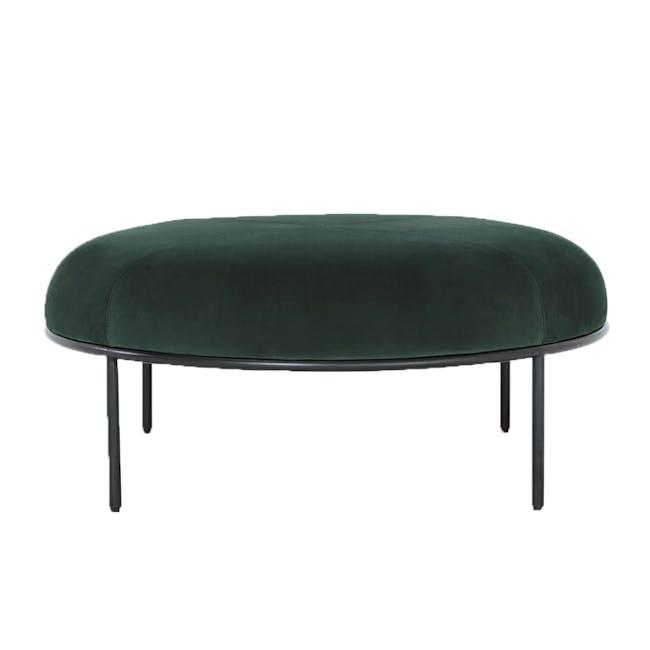 Amos Round Ottoman - Dark Green - 0