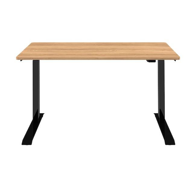 Huxley Adjustable Study Desk 1.2m - Black, Oak - 3