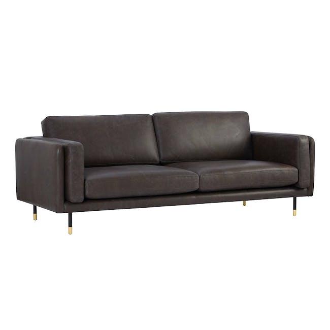Acadia 3 Seater Sofa - Mocha (Genuine Cowhide) - 2