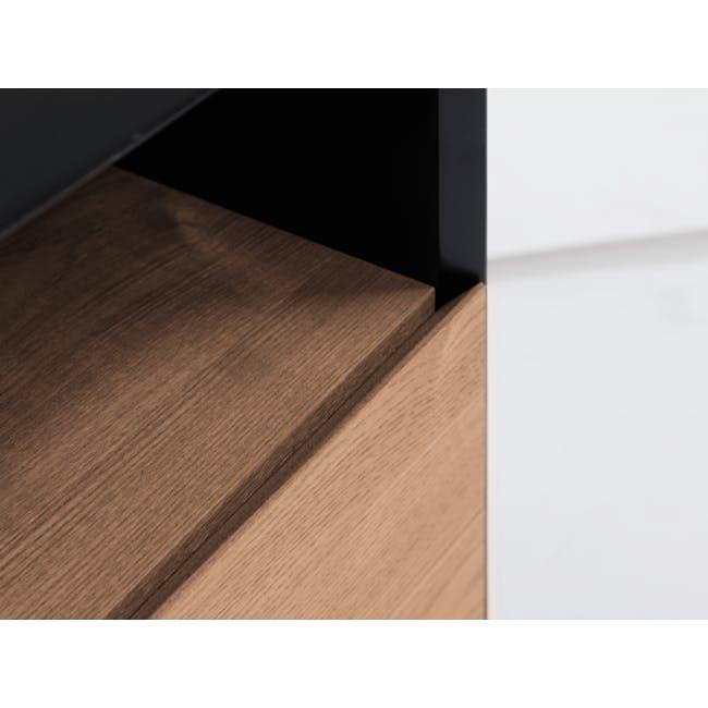 Lewis Bedside Table - Black, Oak - 5
