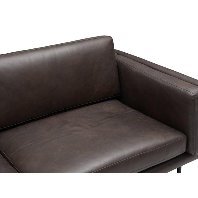 Acadia 3 Seater Sofa - Mocha (Genuine Cowhide) - 8