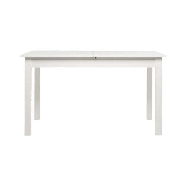 Jonah Extendable Table 1.4m in White with 4 Linnett Chair in Natural, White - 1