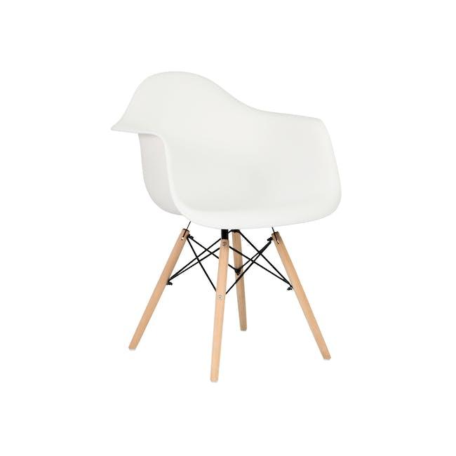 DAW Chair - Natural, White - 0