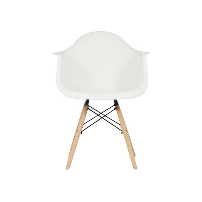 DAW Chair - Natural, White - 2