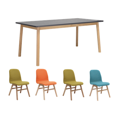 Kendall Dining Table 1.8m with 4 Ava Dining Chairs - Image 1