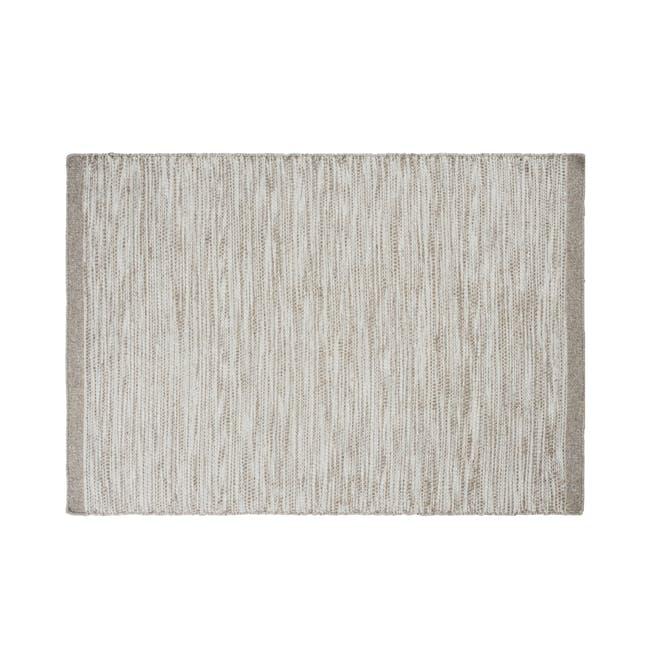 Fugito Flatwoven Rug 2.4m x 1.7m - Silver - 0