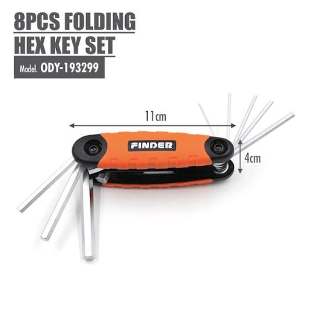 FINDER 8pcs Folding Hex Key Set - 2