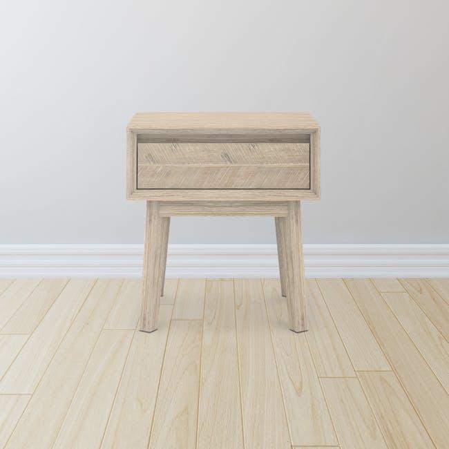 Leland Single Drawer Bedside Table - 1