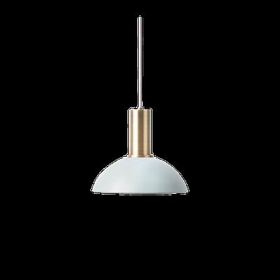 Addison Pendant Lamp - Brass, Light Blue - Image 1