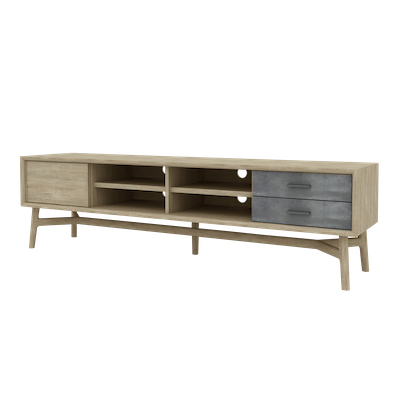 Hendrix TV Console 2m with Hendrix Rectangular Coffee Table - Image 2