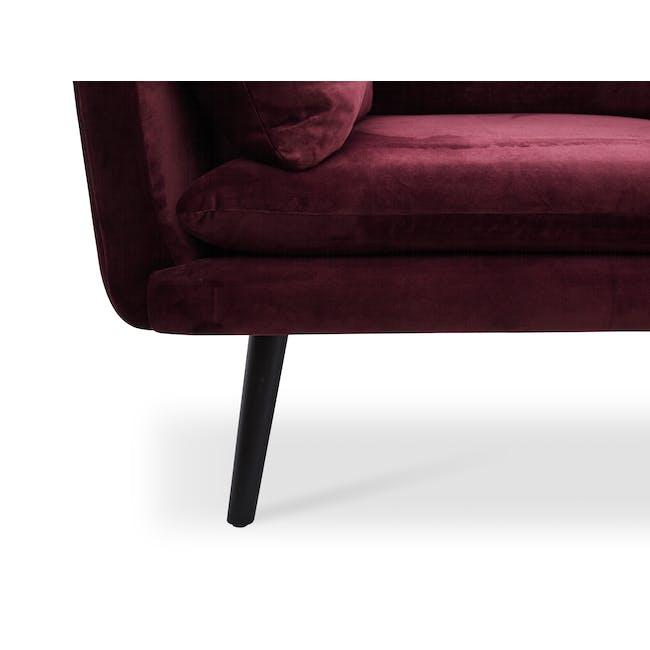 Sable 3 Seater Sofa - Ruby (Velvet) - 5